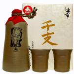 版画家「名嘉睦念」が描く忠孝干支ボトル2015「未」。