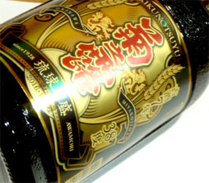 菊之露7年古酒のラベル